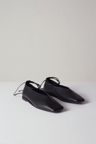 Emma Flat Leather Black