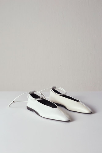 Miel Flat Leather White/Ivory