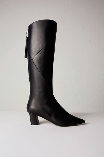 Magot Long Boots Leather Black