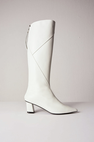 Magot Long Boots Leather Ivory