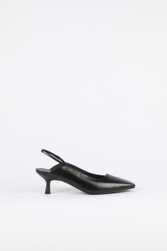 Ellie Slingback Leather Blackblanc sur blanc 블랑수블랑