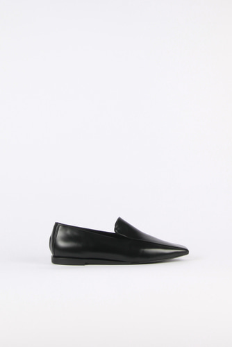 Devona Loafer Leather Blackblanc sur blanc 블랑수블랑