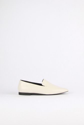Devona Loafer Leather Ivoryblanc sur blanc 블랑수블랑