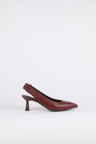 Nana Slingback Pumps Leather Wineblanc sur blanc 블랑수블랑