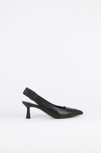 Nana Slingback Pumps Leather Blackblanc sur blanc 블랑수블랑