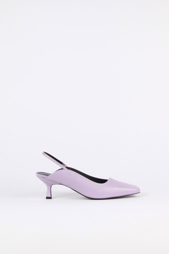 Ellie Slingback Leather Lilacblanc sur blanc 블랑수블랑