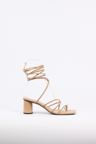 Celina Sandals Leather Beigeblanc sur blanc 블랑수블랑