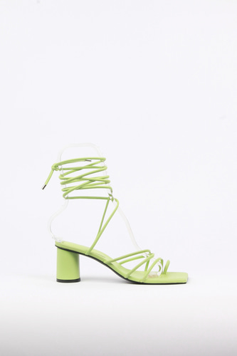Celina Sandals Leather Limeblanc sur blanc 블랑수블랑