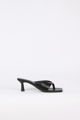 Nadia Flip-Flop Leather Heel Blackblanc sur blanc 블랑수블랑
