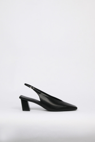 Remi Slingback Leather Blackblanc sur blanc 블랑수블랑