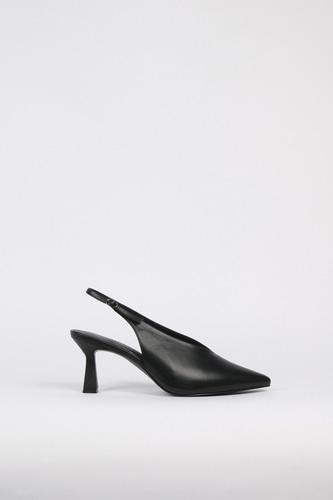 Valerie Slingback Leather Blackblanc sur blanc 블랑수블랑